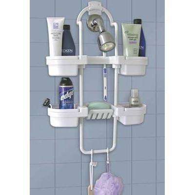 Hang On Up Bath Shower Rack Organizer Caddy Storage Shelf Soap Shampoo Holder ()