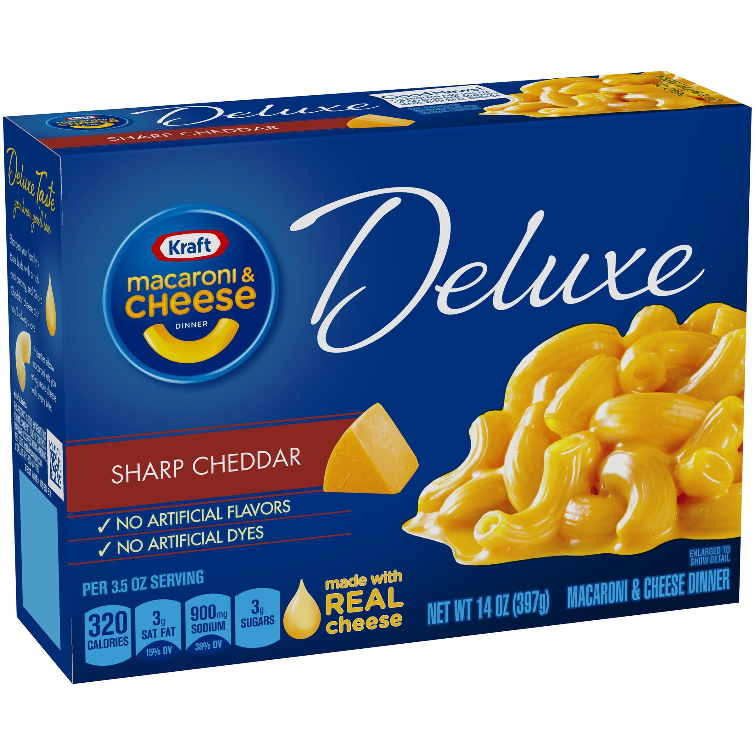 Kraft Macaroni & Cheese Deluxe Original Cheddar, 14.0 OZ