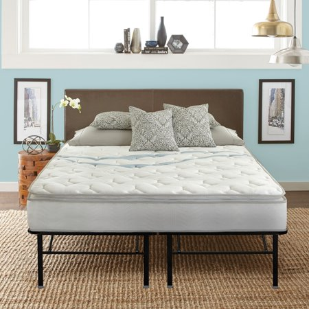 premier 18 platform and contura 10 hybrid mattress bed frame set multiple sizes