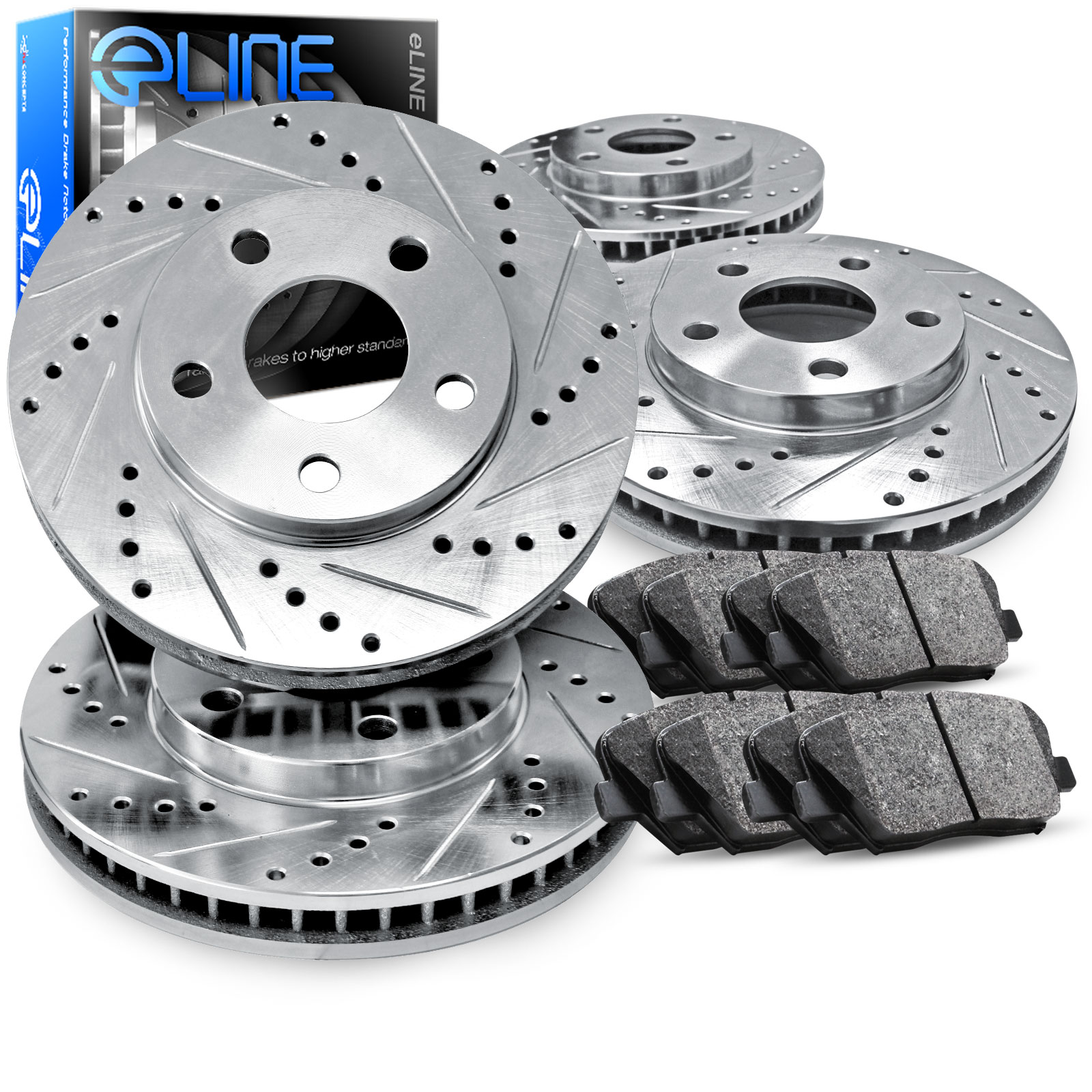 1995 Toyota Camry DX 2.2L Front And Rear Drilled Slotted Brake Rotors + Ceramic Pads