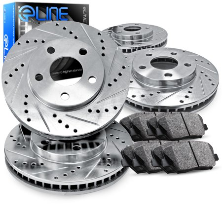 2007 2008 Toyota Camry Ce 2 4l Front And Rear Drilled Slotted Brake Rotors Ceramic Pads