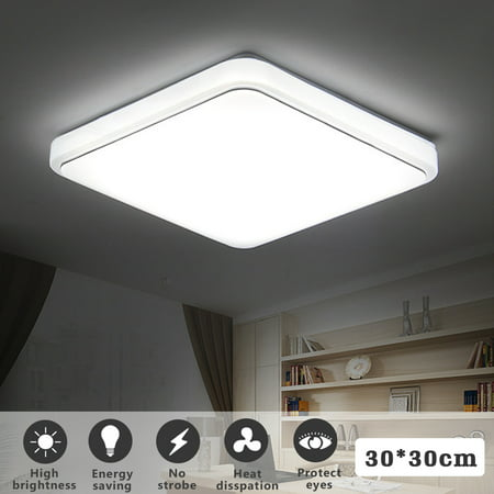 Terrific 24W Modern Led Square Flush Mount Pendant Ceiling Light Fixtures Clearance For Home Kitchen Bathroom Bedroom Living Room Lighting 30 30Cm 34 34Cm Interior Design Ideas Philsoteloinfo