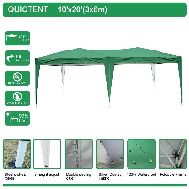 Quictent 10x20 ft Pop up Canopy Outdoor Gazebo Camping tent without Sides