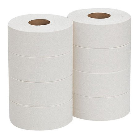 Georgia Pacific Professional Jumbo Jr. Bathroom Tissue Roll, Septic Safe, 2-Ply, White, 1000 ft, 8 Rolls/Carton -GPC12798