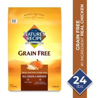 Nature's Recipe Grain Free Dry Dog Food Easy to Digest Chicken, Sweet Potato, & Pumpkin Recipe (Various Sizes)