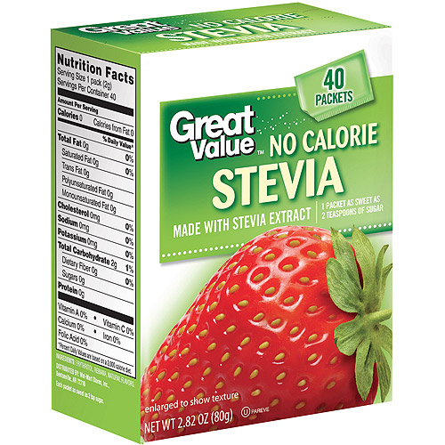 Equate Zero Calorie Sweetener Packets, 40ct