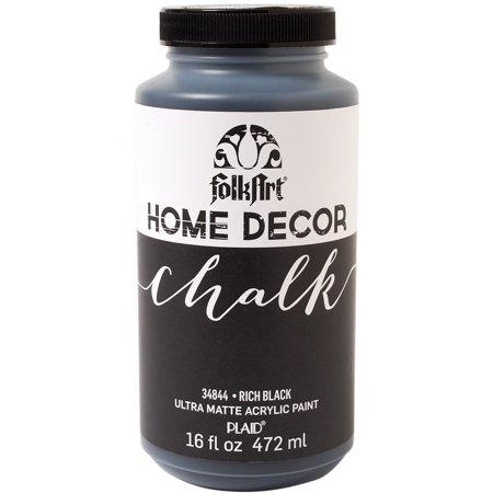 Folkart Home Decor Chalk Finish Paint 16oz Rich Black