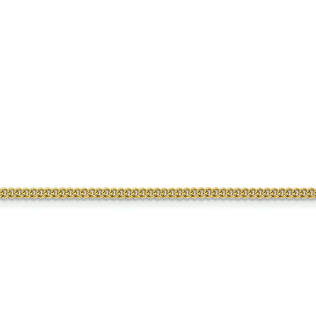 Stainless Steel IP Gold-plated 2.25mm Round Curb Chain 24in - image 3 of 3