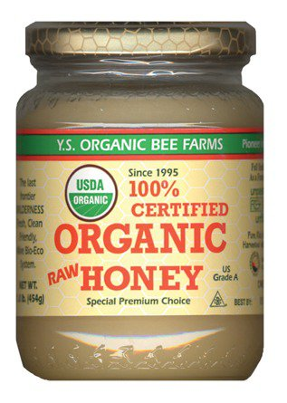 Certified Organic Raw Honey YS Organic Bee Farms 16 oz paste by