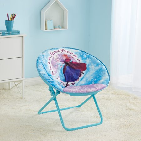 "Disney Frozen 23"" Elsa and Anna Kids Folding Saucer Chair"