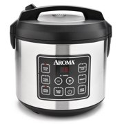 Aroma Housewares 20 Cup Cooked (10 cup uncooked) Digital Rice Cooker, Slow Cooker