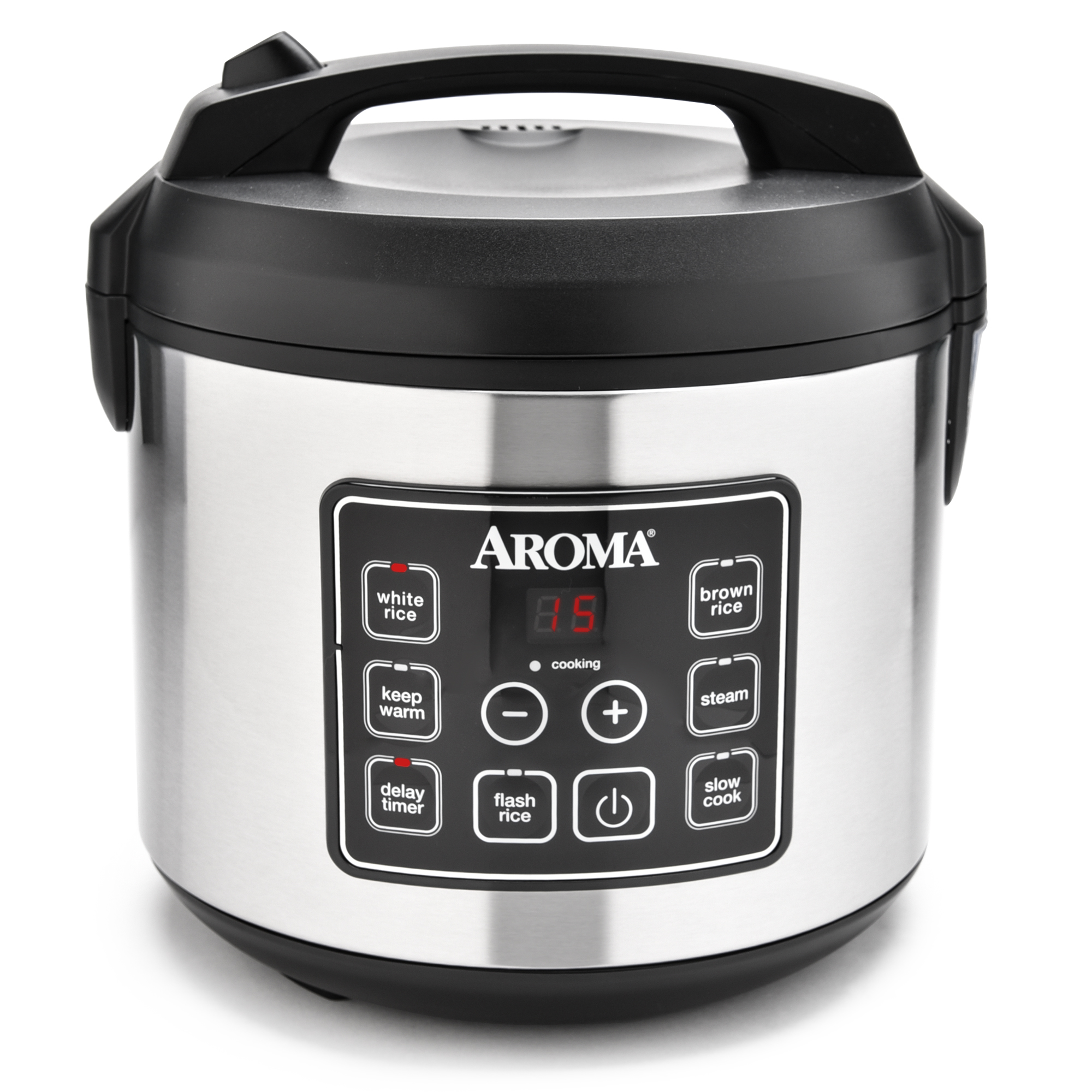 aroma 20 cup programmable rice cooker slow cooker and food steamer stainless steel aroma 20 cup programmable rice cooker slow cooker and food      rh   walmart com