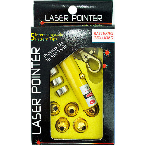 Laser Pointer With Interchangeable Heads