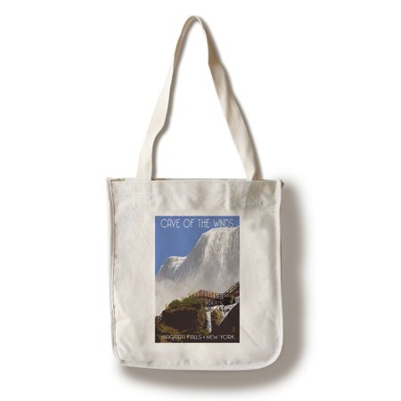Niagara Falls, New York - Cave of the Winds Close Up - Lantern Press Artwork (100% Cotton Tote Bag -