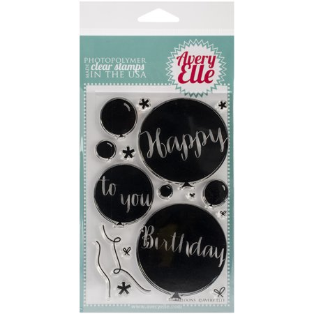 Avery Elle Clear Stamp Set 4x6 Balloons Walmartcom