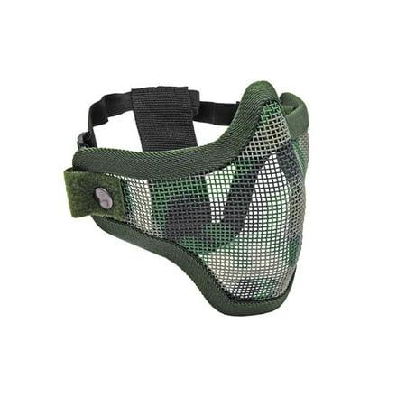 2G Strike Steel Half Airsoft Mask - Jungle Camo