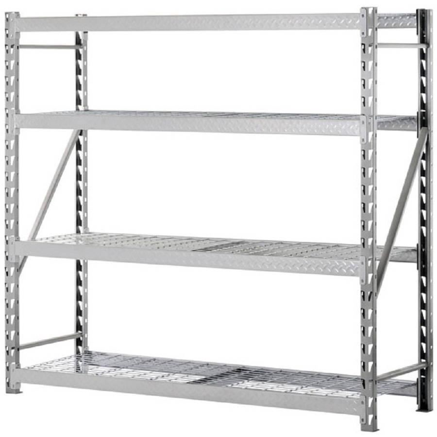 Storage Rack Shelves Steel 4800-Lbs Silver Finish Organizer Garage ...