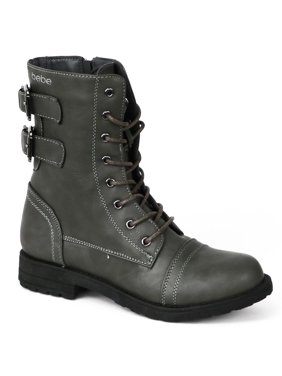 4dbfb0bcd5c8 Product Image Bebe Girls 11-4 Buckle Combat Boots