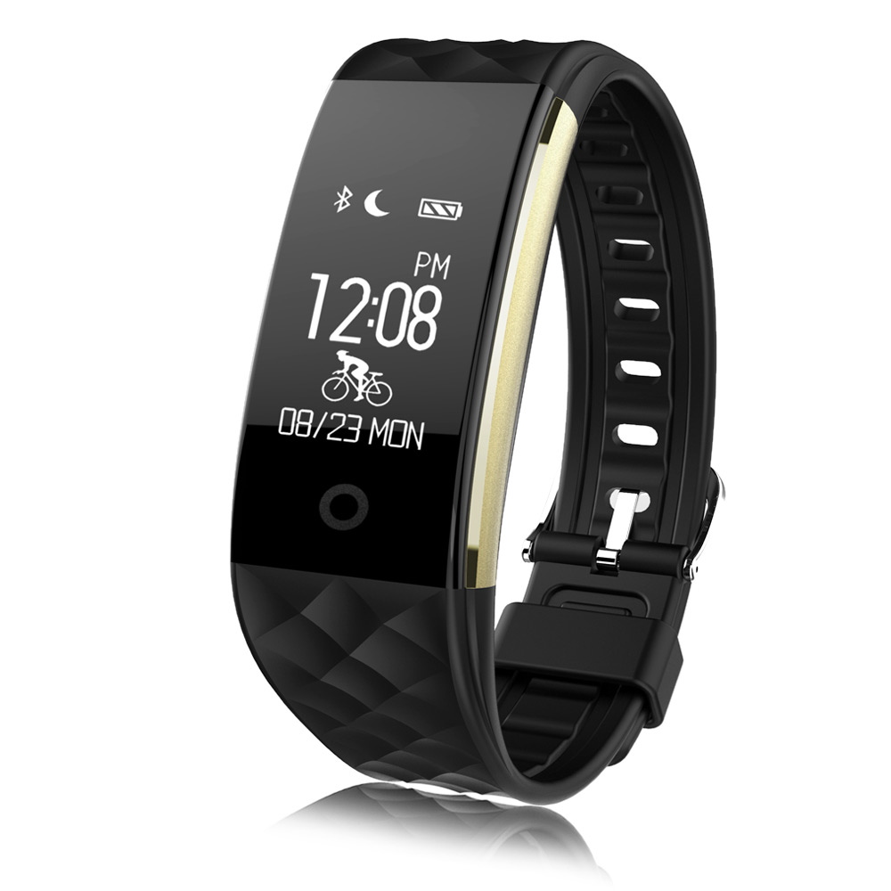 Diggro S2 Smart Bracelet Bluetooth Band Sport Fitness Tracker with Heart Rate Monitor Pedometer Remote Camera Call Reminder Waterproof Wristband For Android IOS Smartphone-Black