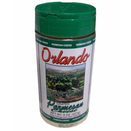 Grated Parmesan Cheese (OrlandoGreco) 8oz, plastic shaker