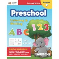 Jumbo ABC's & 123 Preschool Coloring Workbook : Ages 2 and up, Colors, Shapes, Numbers, Letters, Learn to Write the Alphabet (Essential Activity Book for Boys, Girls, Teachers, Kindergarden, Toddlers) (Paperback)