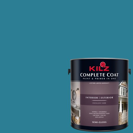 KILZ COMPLETE COAT Interior/Exterior Paint & Primer in One #RE140-02 Blue