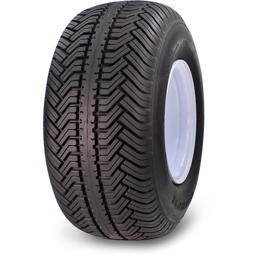 "Greensaver Plus 18"" x 8.50""-8 4-Ply Golf Cart Tire Tire and Wheel 4 Lug, White by Greenball"