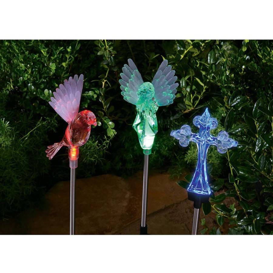 Mainstays Color Changing Angel, Cross or Dove Solar-Powered Decorative Light