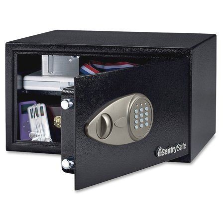 Sentry Safe X105 Security Safe - 0.7 Ft - Electronic Lock - 2 X Live-locking Bolt[s] - 7
