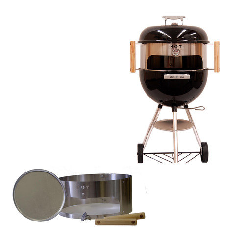 Kettlepizza Basic Pizza Oven Kit For 22-inch Charcoal Kettle Grills