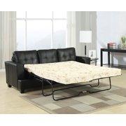 Platinum Sofa With Queen Sleeper Black
