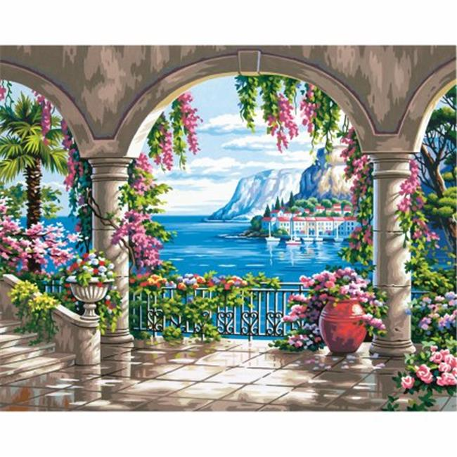 Dimensions 91452 Paint By Number Kit 16 inch x 20 inch-Floral Patio