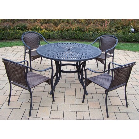 Oakland living sunray tuscany 48 in patio dining set for Tuscany patio set walmart