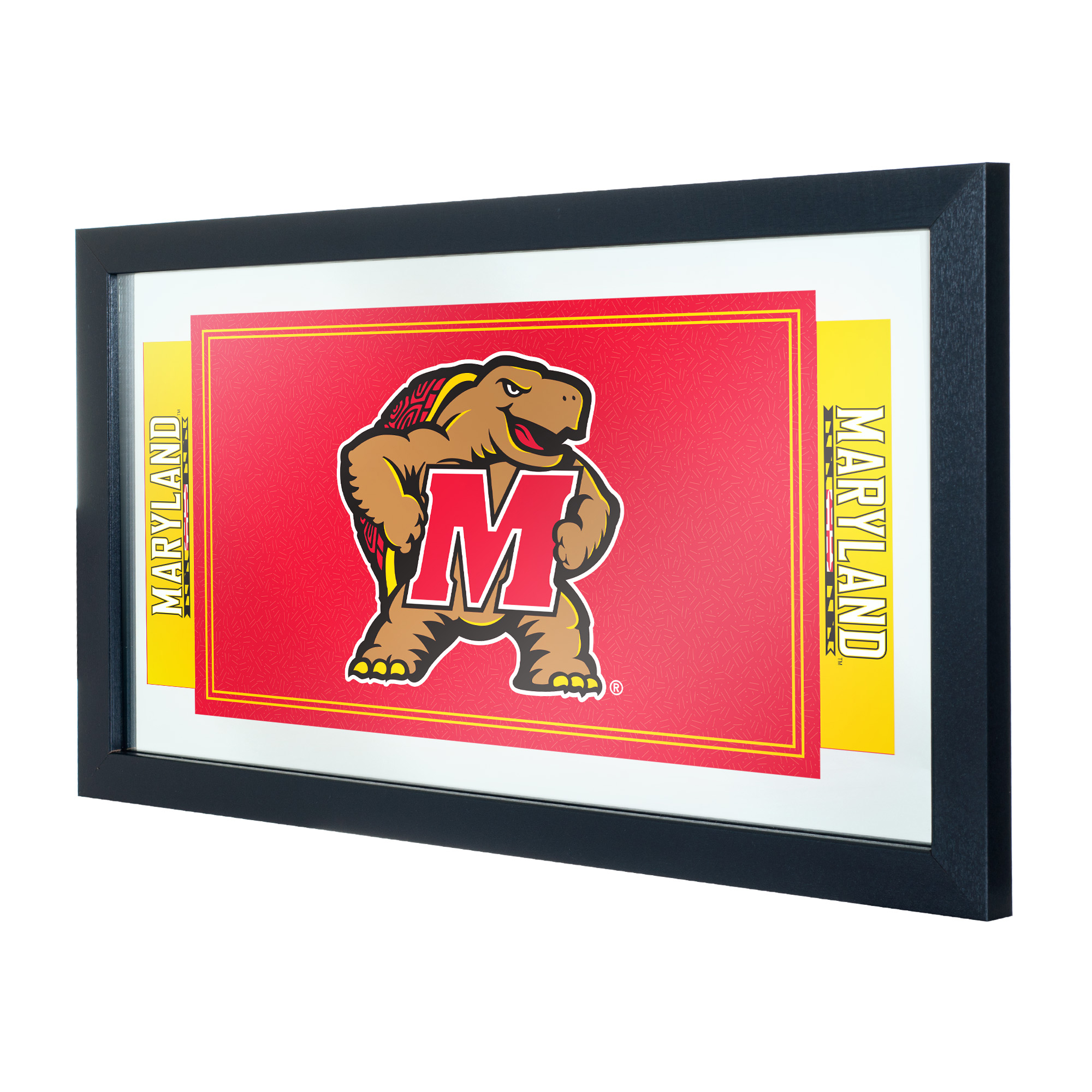 NCAA Maryland University Logo and Mascot Framed Mirror