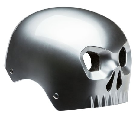 Mongoose Chrome Skull Helmet, Youth (Ski Helmet Chrome)