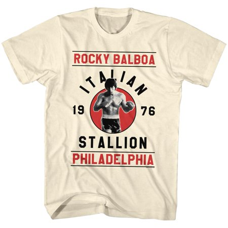 Rocky 1970's Sports Boxing Action Movie Rocky Balboa Adult T-Shirt Tee - Men's 1970's Clothing