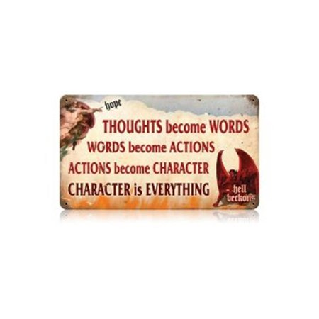 Character Sign (Past Time Signs V541 Character is Everything Humor Vintage Metal)