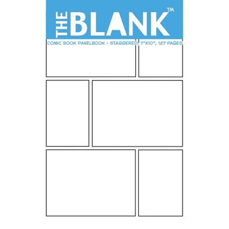 The Blank Comic Book Panelbook - Staggered, 7x10, 127 Pages (Paperback) - Comic Book Banner