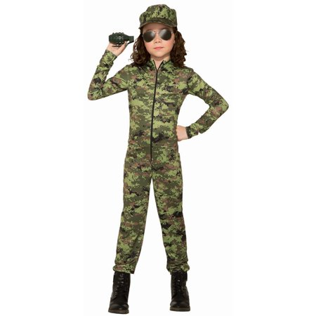Army Brat Halloween Costume (Halloween Army Girl With Hat Child)