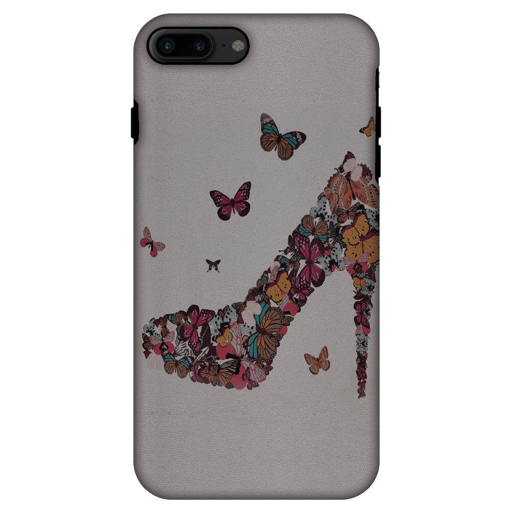 iPhone 7 Plus Case, Premium Handcrafted Printed Designer 2 in 1 Dual Layer ShockProof Case Back Cover for iPhone 7 Plus - Butterfly High Heels
