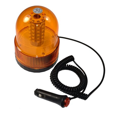 HQRP Hazard Warning Amber Emergency Truck Snow Plow Safety Magnetic Mount Beacon Strobe Lights for Maximum Visibility + HQRP Coaster