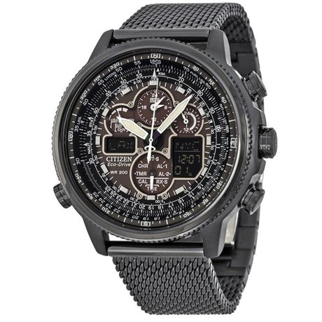 steel watch chronograph s promaster link watches citizen at skyhawk men