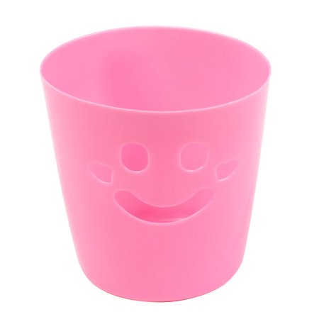 Face Stationery - Unique Bargains Unique Bargains Smiling Face Pink Stationery Cosmetic Storage Pen Toothbrush Holder Organizer