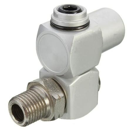 "1-4x 1/4"" Universal 360 Swivel Air Hose Connector Adapter Flow Aluminum BSP Tool - image 3 de 7"