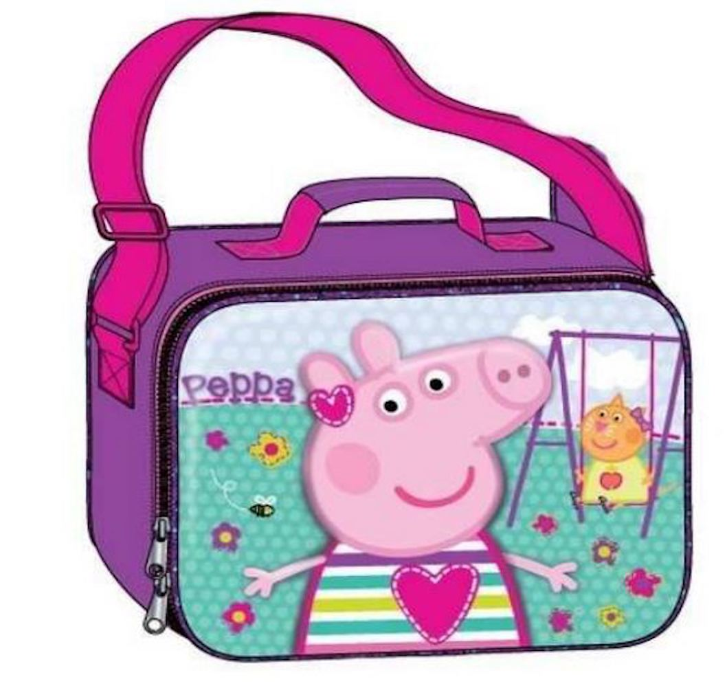 PEPPA PIG Deluxe Girls' 3D Lunch Bag With Long Shoulder Strap