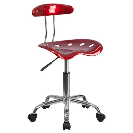 Computer Task Chair with Tractor Seat, Multiple Colors