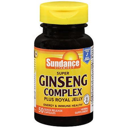 Sundance Vitamins Super Ginseng Complex Plus Royal Jelly Quick Release Capsules   50 Ct