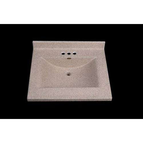 Satin Stone Center Wave 25'' Single Bathroom Vanity Top
