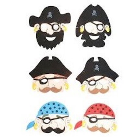 Foam Pirate Mask, Great for pretend play, teachers supplies, school play. Also great as prizes, put in goody bags, and for Halloween By Rhode Island Novelty