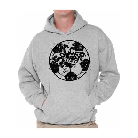 Awkward Styles Men's Soccer Dad Sporty Graphic Hoodie Tops Vintage Black Daddy Father`s Day Gift Idea for $<!---->